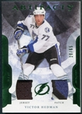 2011/12 Upper Deck Artifacts Jerseys Patch Emerald #77 Victor Hedman 10/65