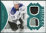 2011/12 Upper Deck Artifacts Frozen Artifacts Jerseys Patches Emerald #FADU Dustin Brown 6/35