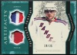 2011/12 Upper Deck Artifacts Treasured Swatches Jerseys Patches Emerald #TSMG Marian Gaborik /35
