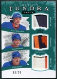 2011/12 Upper Deck Artifacts Tundra Trios Patches Emerald #TT3NYI Matt Moulson Kyle Okposo Josh Bailey 6/20