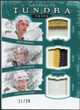 2011/12 Upper Deck Artifacts Tundra Trios Patches Emerald Mike Ribeiro Kari Lehtonen Alex Goligoski /20