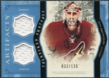 2011/12 Upper Deck Artifacts Treasured Swatches Blue #TSIB Ilya Bryzgalov /135