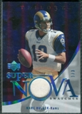 2007 Upper Deck Trilogy Supernova Swatches Platinum #MB Marc Bulger 1/3