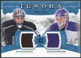2011/12 Upper Deck Artifacts Tundra Tandems Jerseys Blue #TT2BQ Jonathan Quick Jonathan Bernier 25/225