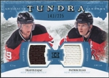 2011/12 Upper Deck Artifacts Tundra Tandems Jerseys Blue #TT2EZ Travis Zajac / Patrik Elias /225