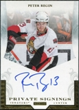 2011/12 Panini Pinnacle Private Signings #29 Peter Regin Autograph