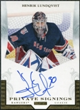 2011/12 Panini Pinnacle Private Signings #39 Henrik Lundqvist Autograph
