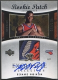 2004/05 Exquisite Collection #58 Bernard Robinson Rookie Patch Auto #143/225