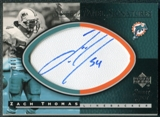 2004 Upper Deck Sweet Spot Sweet Panel Signatures #SPZT Zach Thomas Autograph /100
