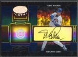 2004 Leaf Certified Cuts #48 Todd Walker Marble Signature Blue Auto #26/75