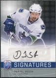 2008/09 Upper Deck Be A Player Signatures #SDA Daniel Sedin Autograph