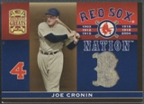2005 Donruss Greats #9 Joe Cronin Sox Nation Material Left Jersey