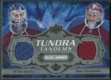 2008/09 Upper Deck Artifacts Tundra Tandems Silver #TTTB Jose Theodore Peter Budaj /50
