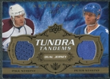 2008/09 Upper Deck Artifacts Tundra Tandems Bronze #TTPP Paul Stastny Peter Stastny /75