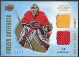 2008/09 Upper Deck Artifacts Frozen Artifacts Dual Gold #FADMK Miikka Kiprusoff /75