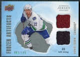 2008/09 Upper Deck Artifacts Frozen Artifacts Dual Silver #FADDS Daniel Sedin /100
