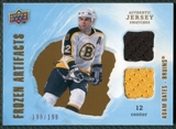 2008/09 Upper Deck Artifacts Frozen Artifacts Dual #FADAO Adam Oates /199