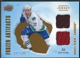 2008/09 Upper Deck Artifacts Frozen Artifacts Dual #FADDS Daniel Sedin /199