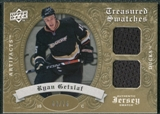 2008/09 Upper Deck Artifacts Treasured Swatches Dual Gold #TSDRG Ryan Getzlaf /75