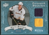 2008/09 Upper Deck Artifacts Treasured Swatches Dual Blue #TSDCP Chris Pronger /50