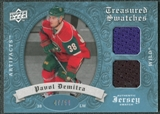 2008/09 Upper Deck Artifacts Treasured Swatches Dual Blue #TSDPD Pavol Demitra /50