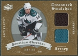 2008/09 Upper Deck Artifacts Treasured Swatches Dual #TSDJC Jonathan Cheechoo /199