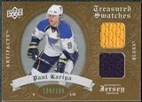 2008/09 Upper Deck Artifacts Treasured Swatches Dual #TSDKA Paul Kariya /199