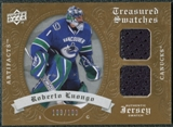 2008/09 Upper Deck Artifacts Treasured Swatches Dual #TSDLU Roberto Luongo /199