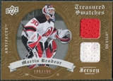 2008/09 Upper Deck Artifacts Treasured Swatches Dual #TSDMB Martin Brodeur /199