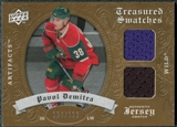 2008/09 Upper Deck Artifacts Treasured Swatches Dual #TSDPD Pavol Demitra /199