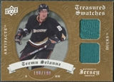 2008/09 Upper Deck Artifacts Treasured Swatches Dual #TSDTS Teemu Selanne /199