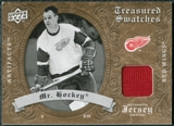 "2008/09 Upper Deck Artifacts Treasured Swatches Retail #TSGH Gordie ""Mr. Hockey"" Howe SP"
