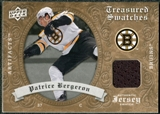 2008/09 Upper Deck Artifacts Treasured Swatches Retail #TSPB Patrice Bergeron