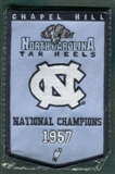 2010/11 Upper Deck UNC North Carolina Basketball 1957 Championship Mini-Banner