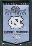2010/11 Upper Deck UNC North Carolina Basketball 1982 Championship Mini-Banner Jordan