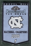 2010/11 Upper Deck UNC North Carolina Basketball 2005 Championship Mini-Banner