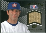 2008 Upper Deck USA Baseball Camo Cloth Jerseys #CC4 Danny Espinosa