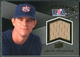 2008 Upper Deck USA Baseball Camo Cloth Jerseys #CC21 Jacob Thompson