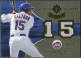 2007 Upper Deck Ultimate Collection Ultimate Numbers Materials #BT Carlos Beltran 15/15