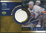 2001/02 Upper Deck Legends Milestones #MBS Brent Sutter