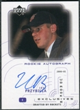 2000/01 Upper Deck Ovation UD Authentics Rookie Exclusives #JP Joel Przybilla Autograph