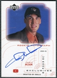 2000/01 Upper Deck Pros and Prospects UD Authentics Rookie Exclusives #CM Chris Mihm Autograph /200