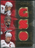 2007/08 Upper Deck OPC Premier Rare Remnants Triples Gold #PTBSW Rod Brind`Amour Eric Staal Cam Ward /35