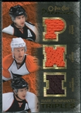 2007/08 Upper Deck OPC Premier Rare Remnants Triples Gold #PTGRC Simon Gagne Mike Richards Jeff Carter /35