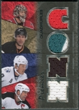 2007/08 Upper Deck OPC Premier Rare Remnants Quads #PQRNWS Richards Niedermayer Ward Stevens /25
