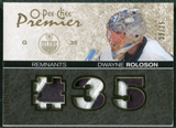 2007/08 Upper Deck OPC Premier Remnants Triples Patches #PRDR Dwayne Roloson /35