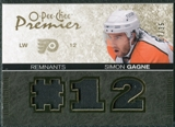 2007/08 Upper Deck OPC Premier Remnants Triples Patches #PRGA Simon Gagne /35