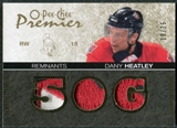 2007/08 Upper Deck OPC Premier Remnants Triples Patches #PRHE Dany Heatley /35