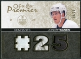 2007/08 Upper Deck OPC Premier Remnants Triples Patches #PRJP Joni Pitkanen /35