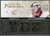 2007/08 Upper Deck OPC Premier Remnants Triples Patches #PRMK Miikka Kiprusoff /35